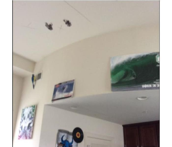 Ceiling Damage To Apartment Before